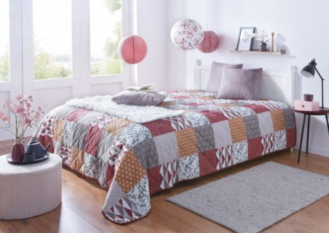 Tagesdecke Squares   Home-Trends24