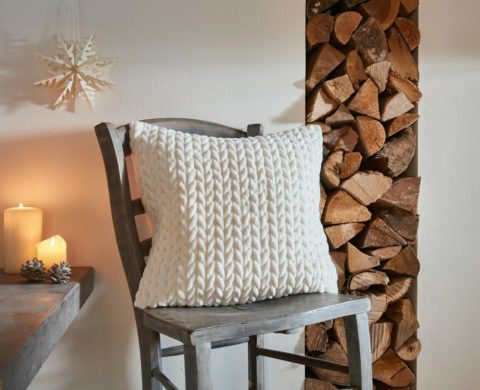 Kissenhülle Zopfmuster | Home-Trends24